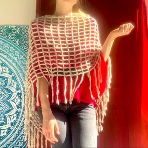 Cotton on wooly shawl in cream. Super soft.